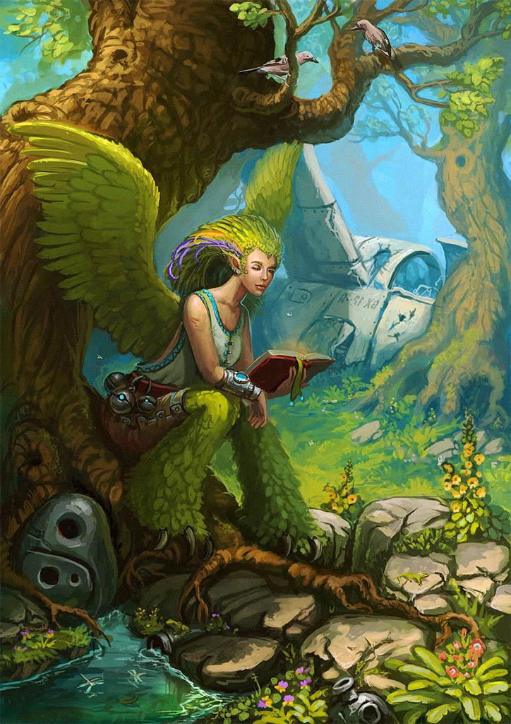 Serene reading by Sedeptra