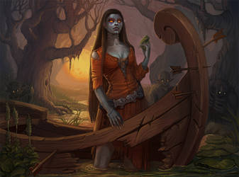 Queen  of marshes by Sedeptra