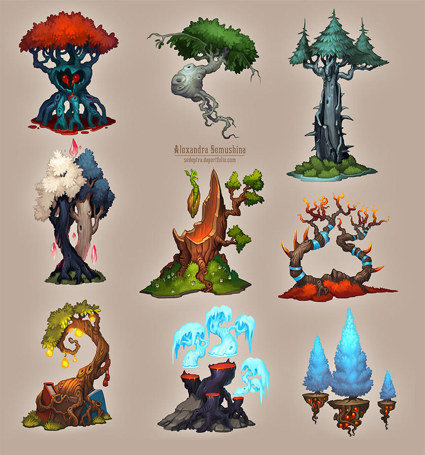 Amazing trees 3 by sedeptra on deviantart for Beautiful drawings of trees