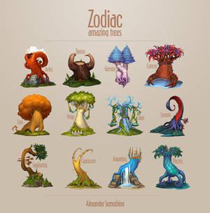 Amazing trees. Zodiac