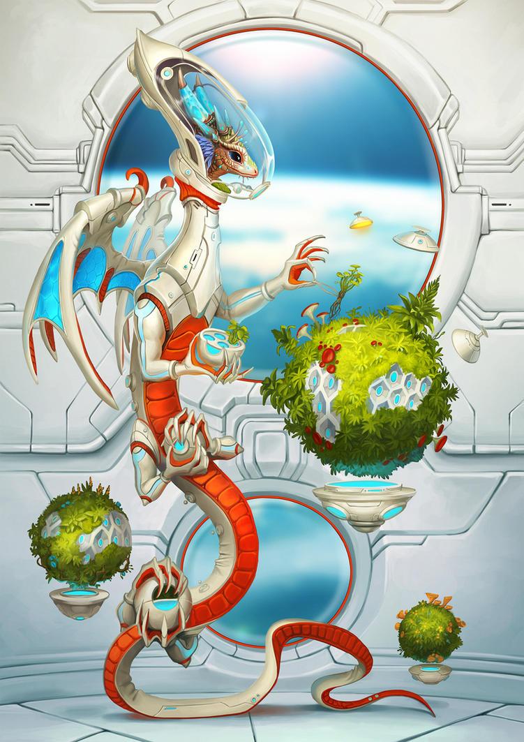 Cosmic gardener by Sedeptra