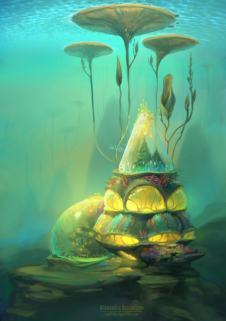Underwater biotech house 1 by Sedeptra