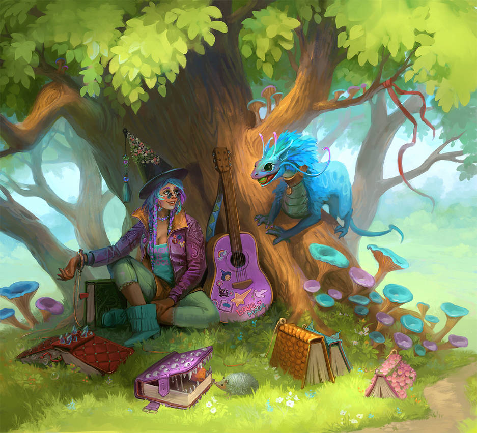 Hippie witch by Sedeptra