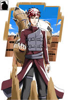 Gaara of the Desert by BlckFeatHeR