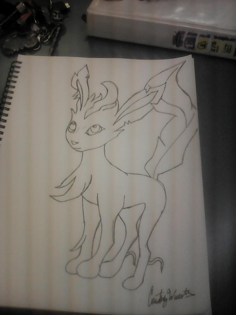 Leafeon Study by Tiamatshapeshifter