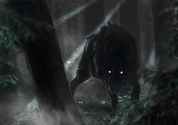 Dark wolf by AnnaKowalczewska