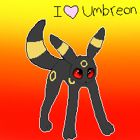 I Love Umbreon by LuneTheUmbreon