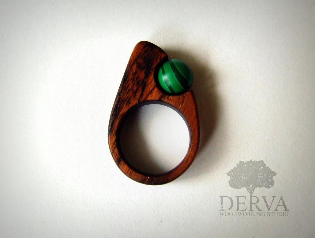 wood rings with contemporary jewellery and inlay comfort teak ring titanium product rounded t