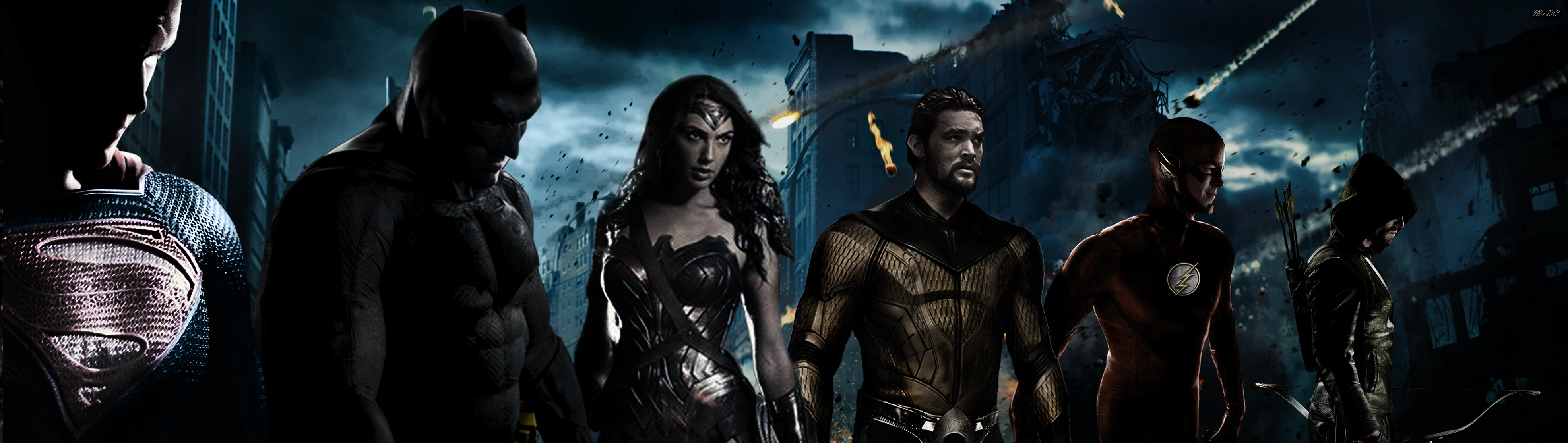Justice League 'City under Attack' Banner by fmirza95
