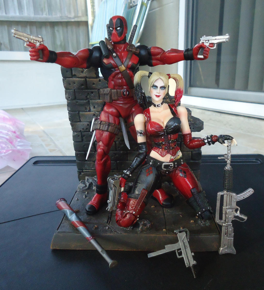Dream team alt lighting by dnxpunk on deviantart - Deadpool harley quinn ...