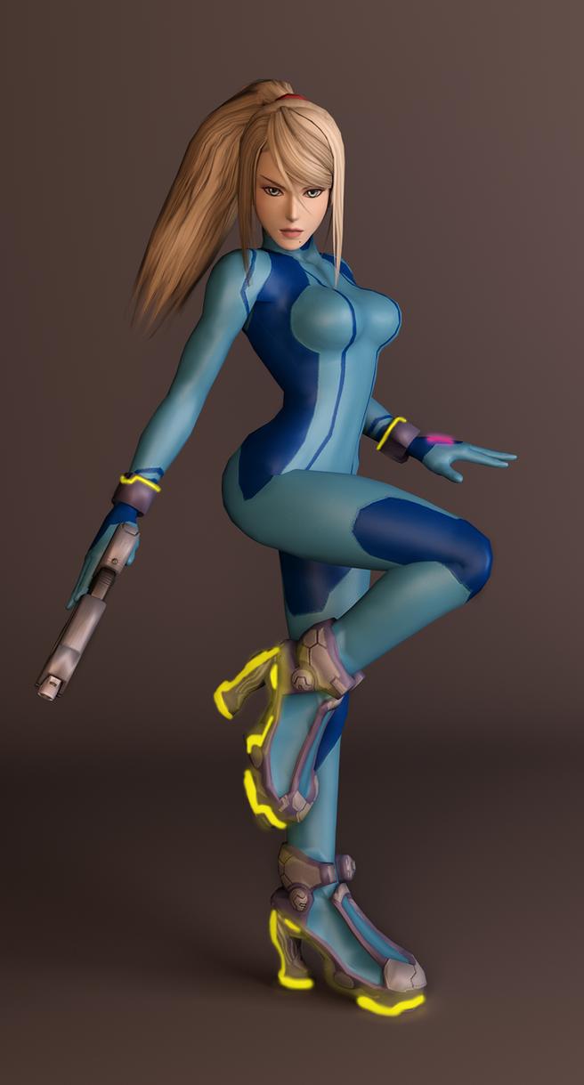 Metroid zero suit samus hot