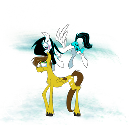 Pho and Abby as ponies by dinowolf0049056