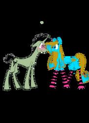 Zim And Kiba as ponies by dinowolf0049056