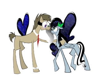 Blax and Cilvia as ponies by dinowolf0049056