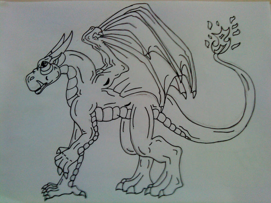 epic dragon outline by starfalls1 on deviantART
