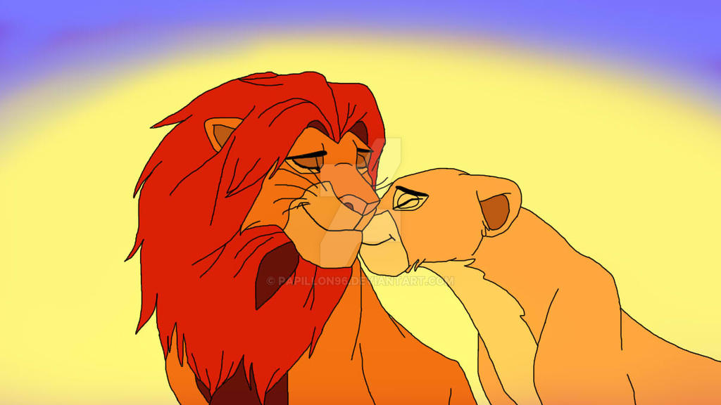 The lion king simba and nala drawings