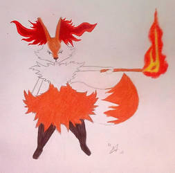 Braixen (Colorized) by BleachTomato