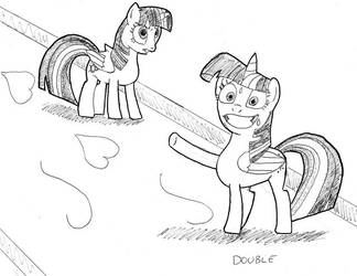 Inktober Challenge Day 29 - Double by cajobif