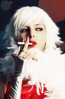 She smokes man's cigarettes