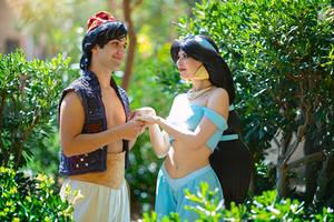 Jasmine and Aladdin by Rei-Doll