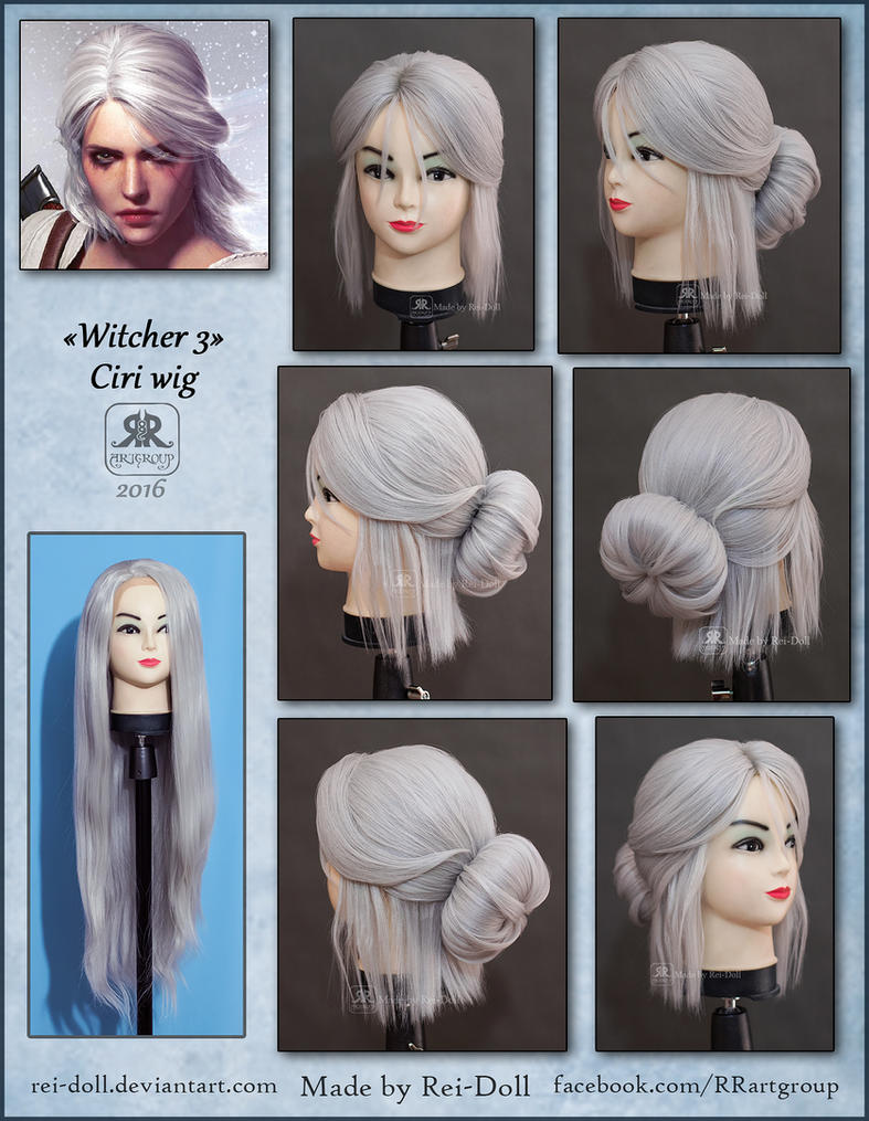 Witcher 3 - Ciri wig commission by Rei-Doll