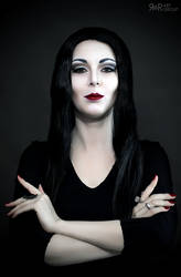 Morticia Addams Cosplay Test
