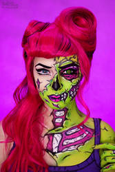 POP ART ZOMBIE Makeup by Rei-Doll