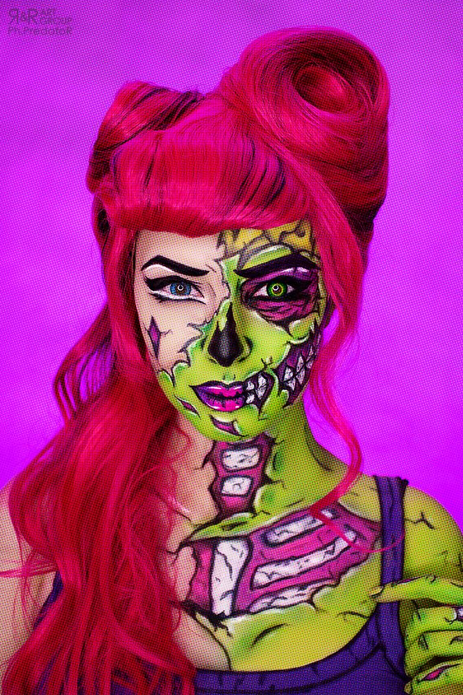 POP ART ZOMBIE Makeup by Rei-Doll