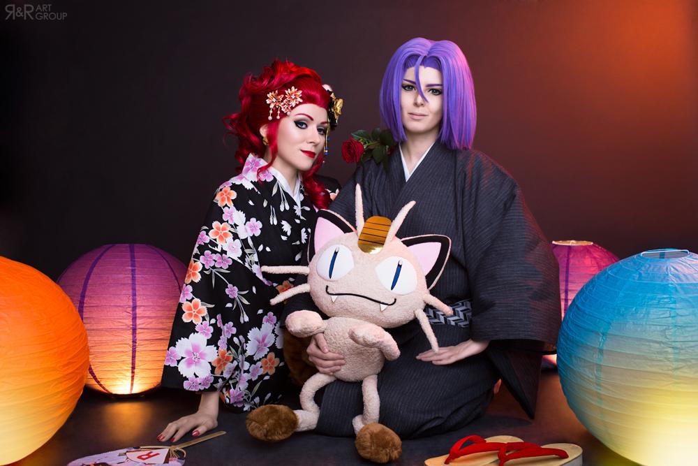 Team Rocket in Kimono by Rei-Doll