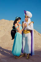 Jasmine and Aladdin Cosplay by Rei-Doll