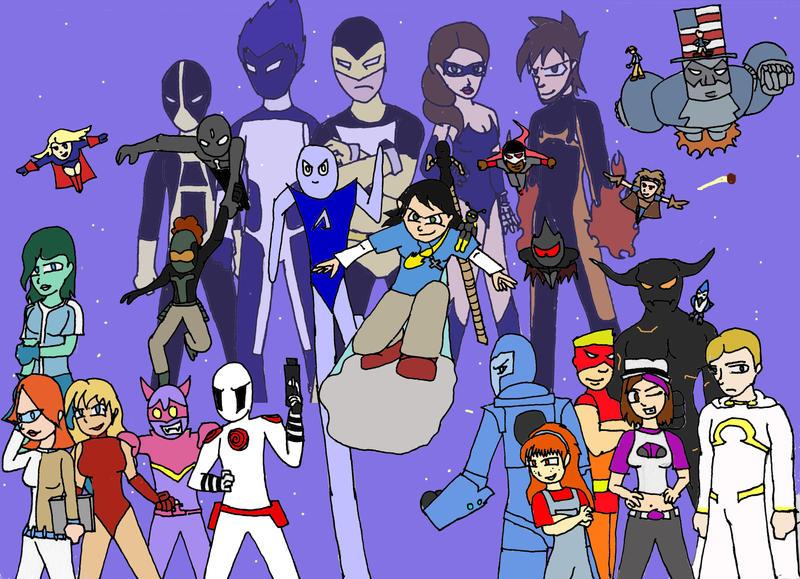 Heroes Unite Fan art by KidDiamond