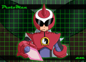 ProtoMan.exe Wallpaper by The-Firestorm
