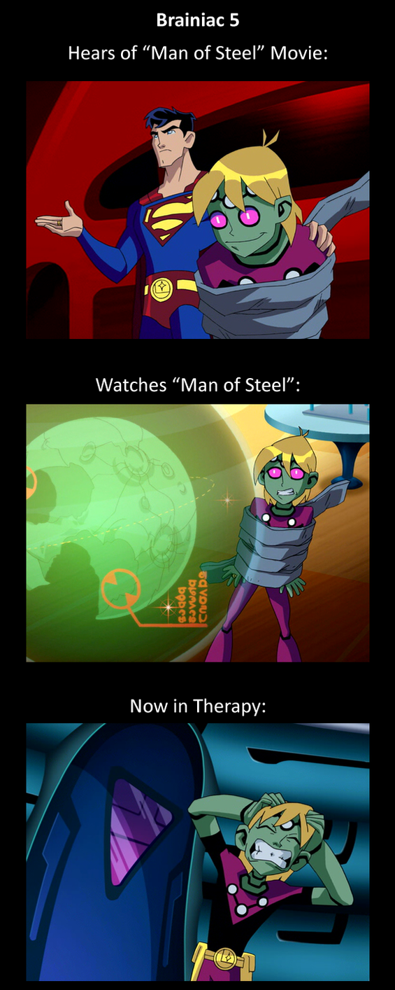 Brainy watches Man of Steel by The-Firestorm