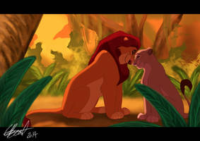 Mufasa and Sarabi in the Jungle by Elbel1000