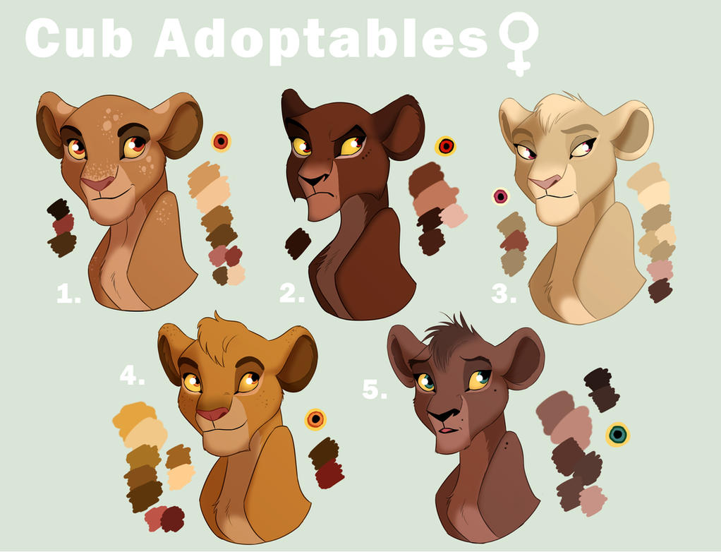 Cub Adoptables Female by Elbel1000