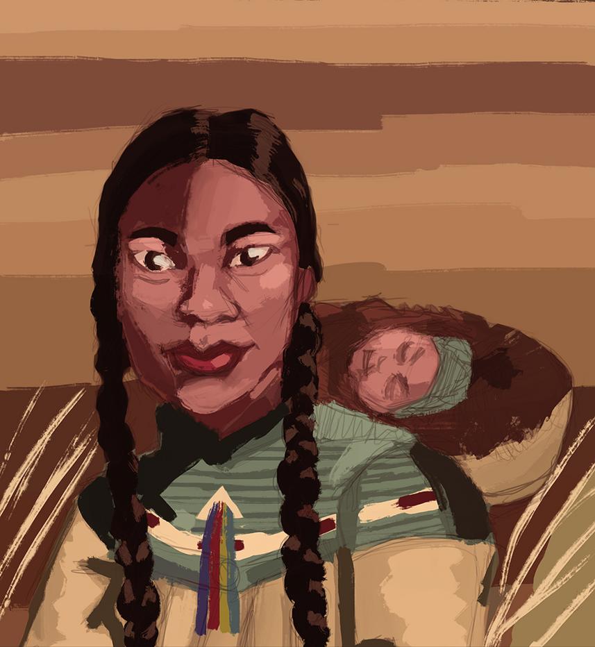Native American Woman by L0ni