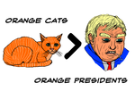 Orange Cats Over Orange Presidents Shirt Design