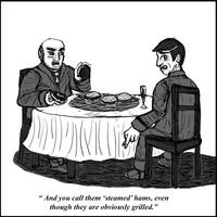 Steamed Hams Except It's A New Yorker Cartoon by WyreCats