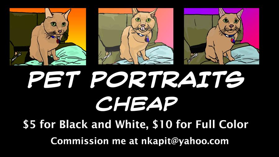 Pet Portraits Cheap! by WyreCats