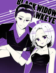 Avengers Formal | Black Widow + Hawkeye by CYUUTE