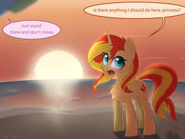 Sunset under the sunset by Puetsua