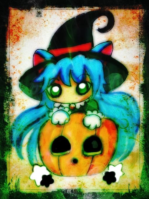 Cat Witchgirl by TaSaMaBi