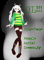 [ MMD x UT] .:: Tda Female Asriel Dreemurr ::. DL! by DjCadenkyHatsune