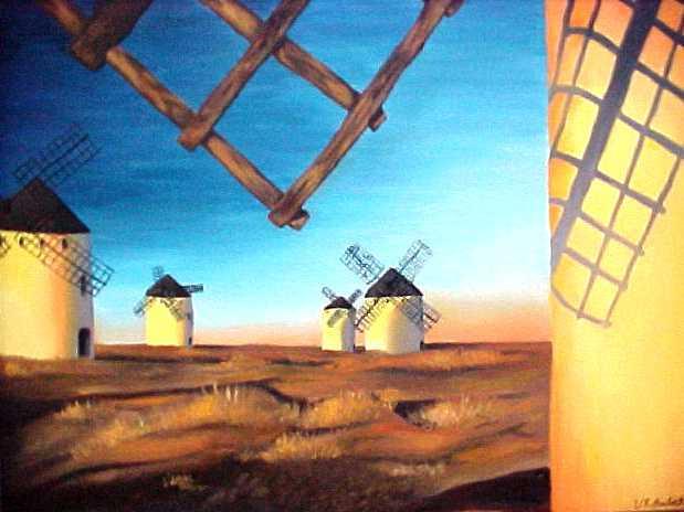 La Mancha Windmills by tori