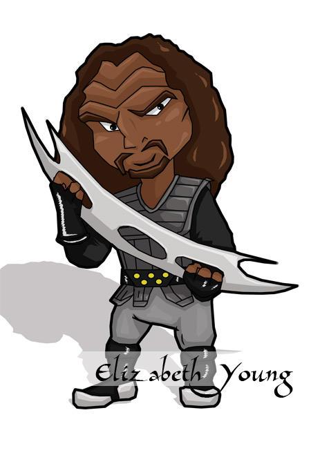 Chibi Klingon by goldiedarkriver
