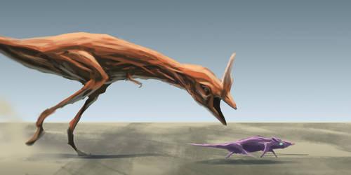 Faster, purple rat
