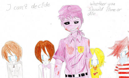 Purple guy with Children