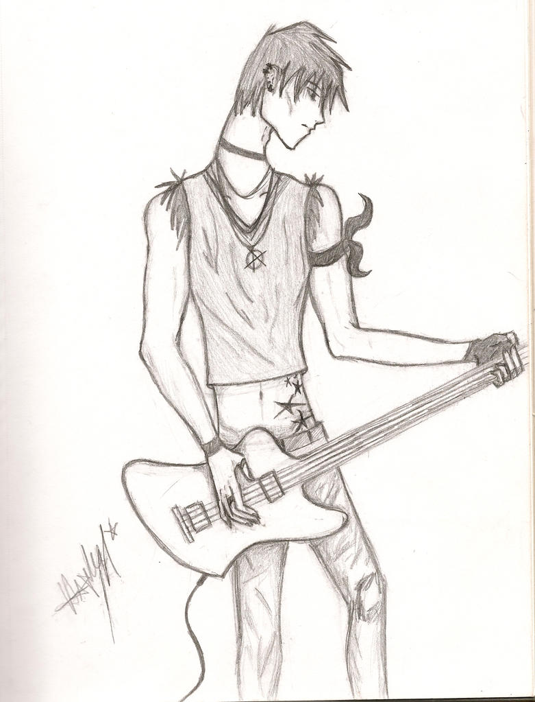 Anime Bass Player by Mudclaw on DeviantArt Anime Bass Player