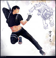 Naruto -The New Artist, Sai II by slvrflame19