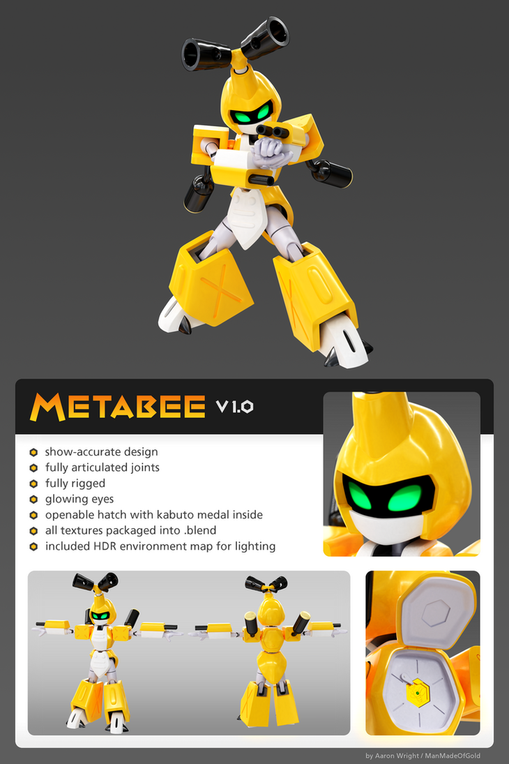 Metabee Model 1.0 [.blend, free download!] by ManMadeOfGold